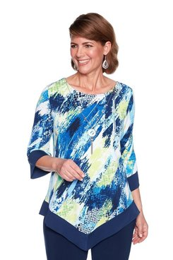 Image: Abstract Knit Top