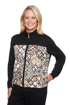 Image: Animal Print Bomber Jacket