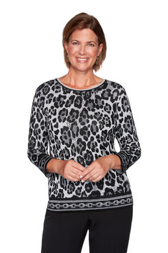 Image: Animal Print Jacquard Sweater