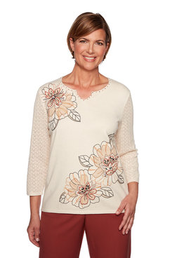 Image: Applique Floral Sweater