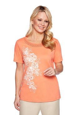 f097f83dc38f7 Image  Applique Flowers Top