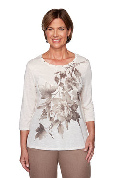 Image: Asymmetrical Floral Top