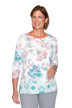 Image: Border Floral Print Top