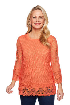Image: Border Lace Top