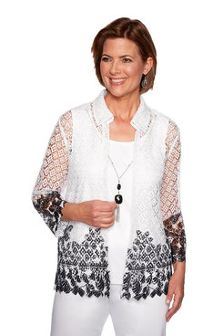 Image: Border Lace Two for One Top