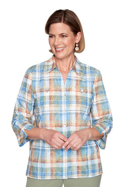 Image: Burnout Plaid Shirt