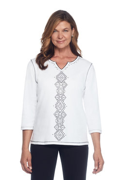 Casual Friday Petite Center Diamond Top