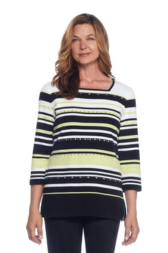 Casual Friday Plus Multistripe Tunic