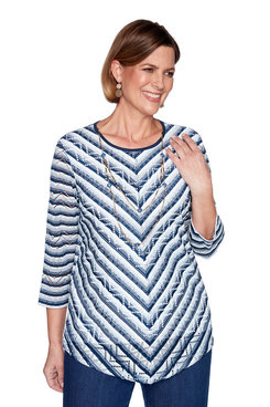 Image: Chevron Striped Top