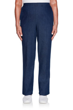 Image: Classic Fit Denim Proportioned Medium Pant