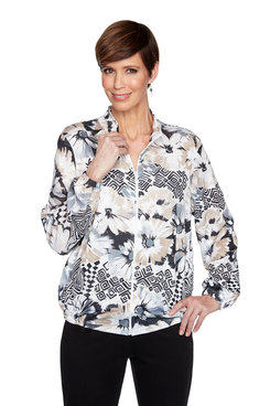 Image: Classic Floral Geometric Jacket