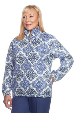 Classics Plus Floral Diamond Polar Fleece