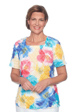 Image: Classics Plus Floral Tiered Blouse