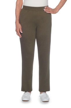 Image: Classics Plus Proportioned Medium Slim Ponte Pant