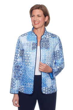 Image: Classics Plus Reversible Diamond Patchwork Jacket