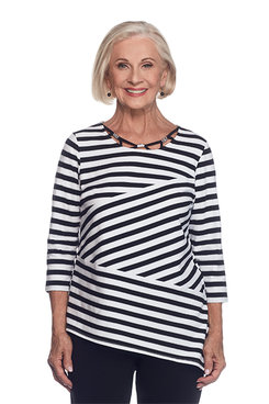 Closet Case Petite Spliced Stripe Top