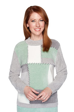 Image: Colorblock Chenille Sweater