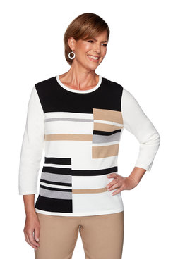 Image: Colorblock Embellished Sweater