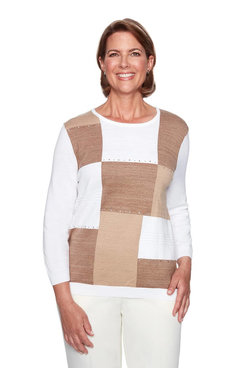 Image: Colorblock Heatset Embellished Sweater