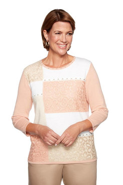 Image: Colorblock Lace Sweater