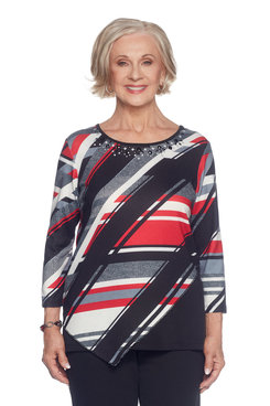 Image: Diagonal Stripes Top