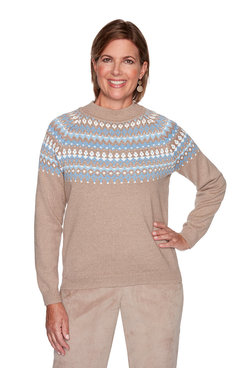 Image: Diamond Fair Isle Yoke Top