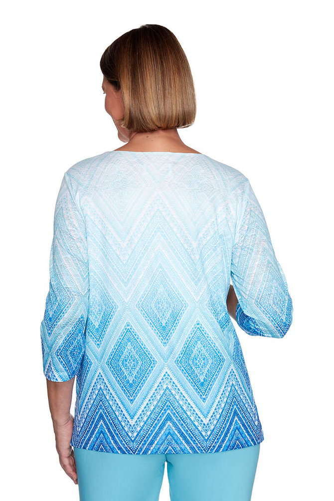 Details about  /Alfred Dunner Cedar Canyon Medallion Lace Patch Top