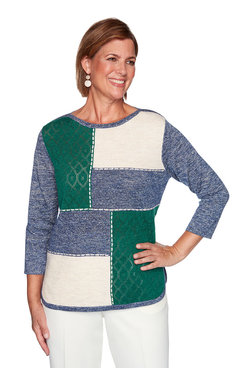 Image: Embellished Colorblock Sweater