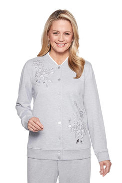 Image: Embroidered Button Front Top