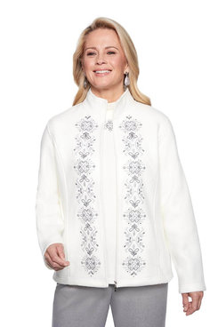 Image: Embroidered Fleece Jacket