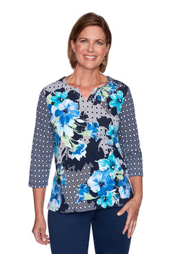 Image: Floral Diamond Patchwork Top