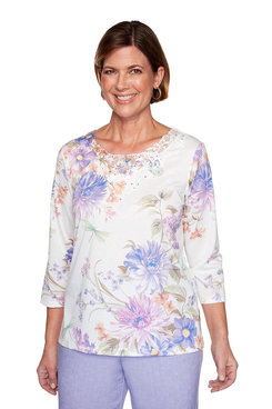 Image: Floral Dragonfly Top