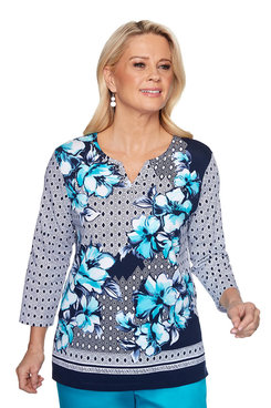 Image: Floral Geometric Top