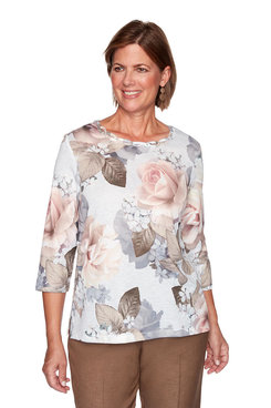 Image: Floral Knit Top