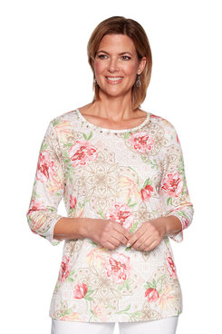 Image: Floral Medallion Printed Tunic
