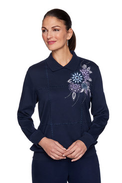 Image: Flower Embroidered Top