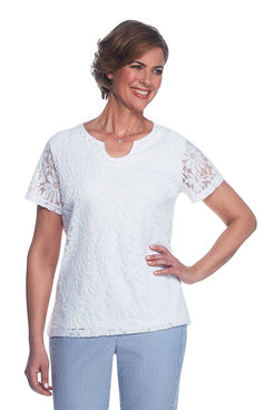 Garden Party Plus Lace Top