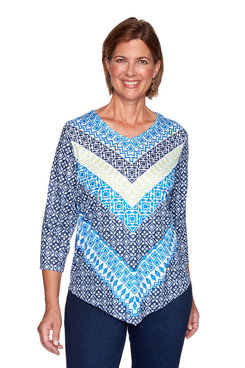 Image: Geometric Chevron Knit Top