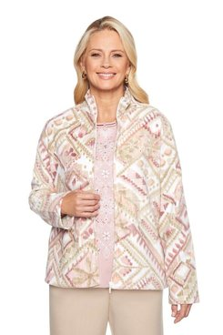 Image: Geometric Fleece Jacket