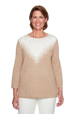 Image: Glitter Yoke Tunic Sweater