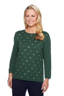 Image: Heatset Embellished Solid Sweater