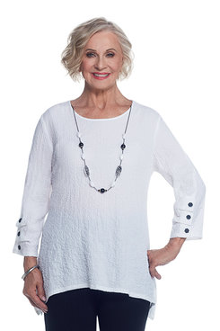 Lace It Up Petite Sharkbite with Necklace Tunic