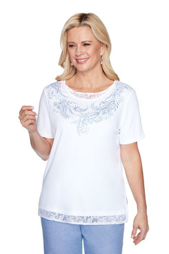 Image: Lace Trim Paisley Top