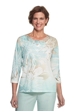 Ladies Who Lunch Exploded Floral Top