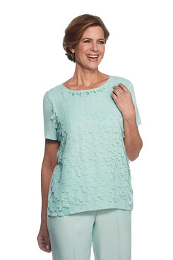 Ladies Who Lunch Flutter Shell Top