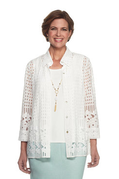 Ladies Who Lunch Lace Border Two for One Top