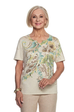 Ladies Who Lunch Petite Floral Sweater