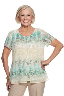Ladies Who Lunch Petite Python Top