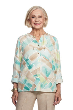 Ladies Who Lunch Stained Glass Top