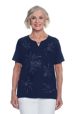 Lady Liberty Petite Fireworks Top